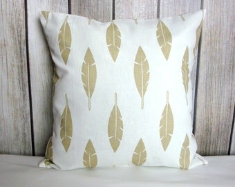 Throw Pillow. Metallic Pillow. Feather Pillow. Gold Metallic Pillow. Metallic Pillow Cover. Pillow Cover