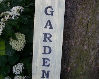 Hand painted garden sign