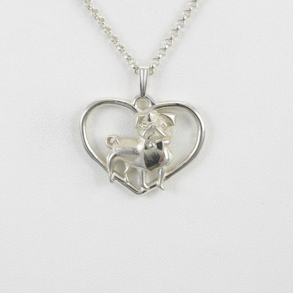 Sterling silver pug pendant w 18 sterling chain by donna for Just my style personalized jewelry studio