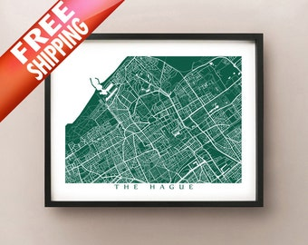 Den Haag Map - Customize colour and size - Netherlands Art - The Hague Poster - Holland Print - Nederlands