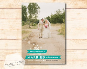 Married Little Christmas // Newlywed Photo Card