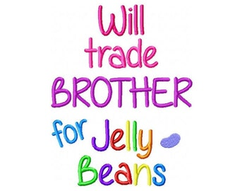 Brother For Jelly Beans PES  Embroidery Design -INSTANT DOWNLOAD-