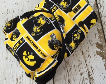 Iowa Hawkeye One Size Hybrid Fitted Cloth Diaper