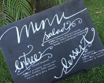 menu boards wedding menu board chalkboard menu menu board