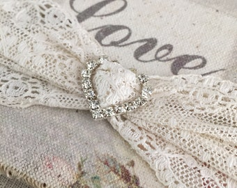 Bridal Garter | cream garter | Heirloom Lace Garter | Last minute bridal