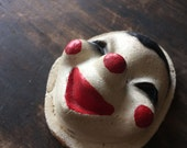 Vintage Clown Face 1930s Composite Freaky Creepy Happy Smiling Clown Mask Assemblage Supply Doll Making Odd Collectable Props