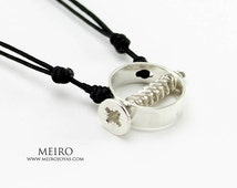 Screw Necklace Sterling Silver / Gargantilla Tornillo Plata 925