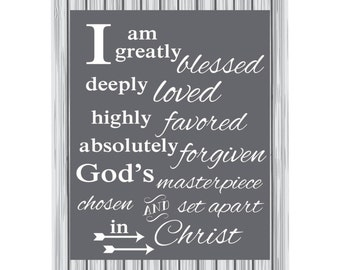 I am greatly blessed...