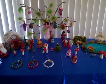 Needle Felted Ornament Trees
