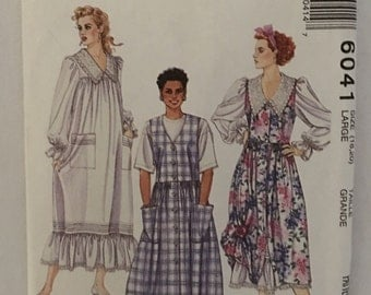 McCalls Pattern 6041 Misses Dress and Jumper  Size: 18-20