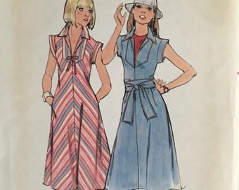 Butterick Vintage Pattern 4835 Misses Dress and Belt  UNCUT  Size 10