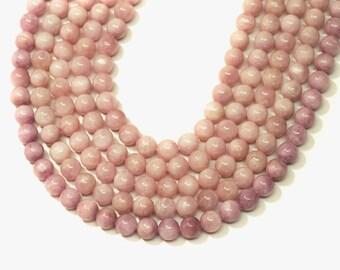 """Kunzite Round Beads 8mm 16""""L"""