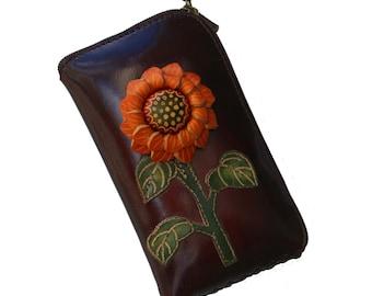 sunflower wallet/eyeglass case