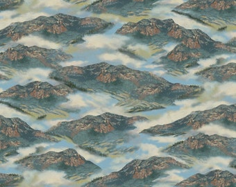 Whitetail Ridge Mountains Fabric From Quilting Treasures By the Yard