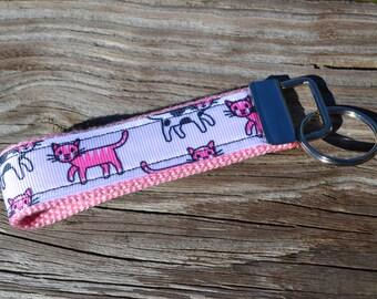 SALE! Pink Kitties Keychain
