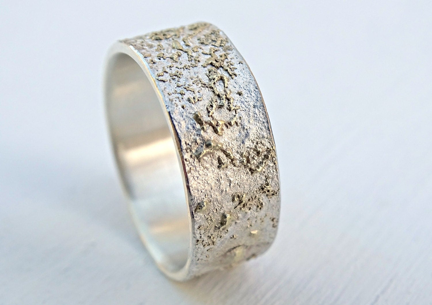 unique silver ring gold wedding band unique promise by
