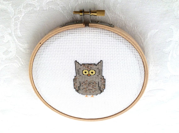 Knitting Room Fond Du Lac : Owl digital download pdf pattern forest embroidery