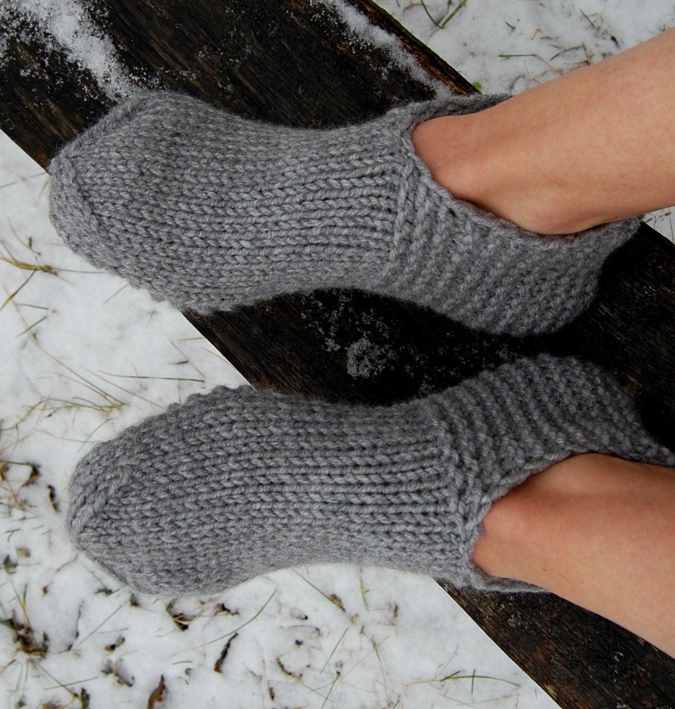 Menu0026#39;s Slipper Socks Knitted Slippers Hand Knit By Luludress