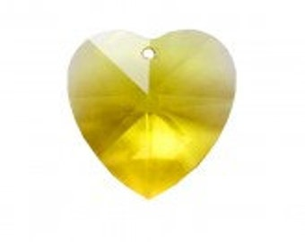 8781 Swarovski Heart 28MM  Light Topaz  3PCS- Wholesale Pricing- Lowest pricing  and Quick Shipping!!