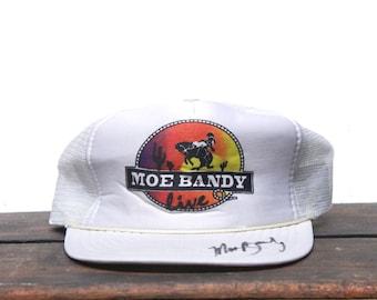 Vintage Moe Bandy Country Singer Trucker Hat Snapback Baseball Cap