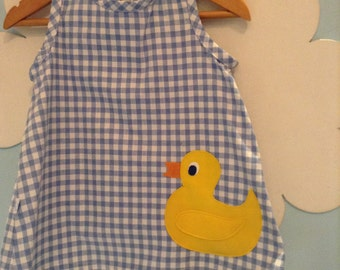 Duck Pinafore Dress - Quack!