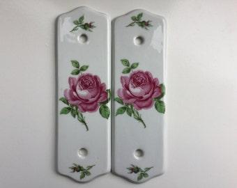 Vintage, Porcelain, Finger Plates, Door Plates, Limoges, France