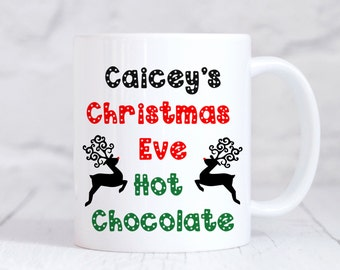 Christmas Eve Mug, Hot chocolate Mug, Personalised Christmas Mug, Christmas Eve Mug, Personalised Childs Mug, Christmas Eve Box Filler, UK