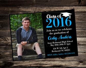 Graduation Party Invitation - DIY Custom Printable Invitation - Party Printables