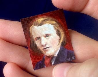 Mini Brahms Portrait Painting
