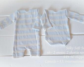 Silky Soft Long Sleeve Onesies, Newborn Props, Boy Props, Girl Props