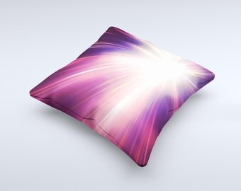 The Pink Rays of Light Pillow ink-Fuzed Decorative Throw Pillow