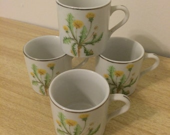 Dandelion Demi Tasse Set