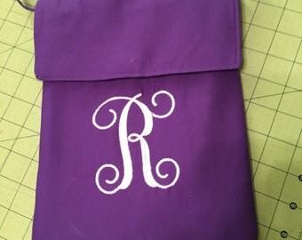 Small Monogram  Cross Body Purse /Bag with Adjustable Strap