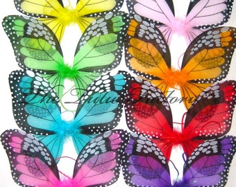 Monarch Butterfly Wings . Fairy Wings . Halloween Wings . Girls .  Assorted Colors