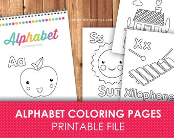 Alphabet Tracing Letters Printabe Pages Alphabet by LittleGraphics