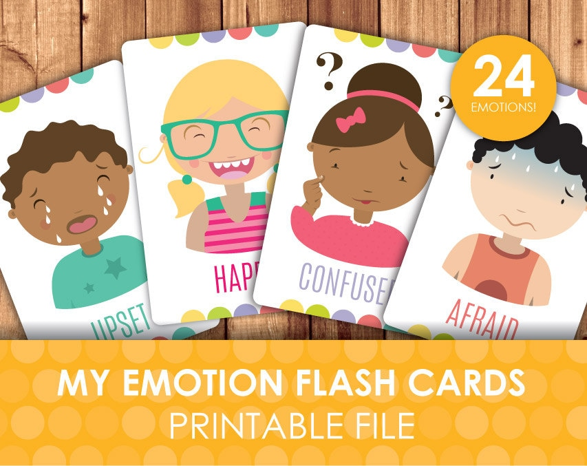 It is a graphic of Dynamic Printable Emotion Cards