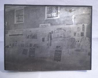 Vintage Metal Printing Plate ' Spurgeons General Store'