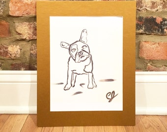 Corky - Gold Matted Print