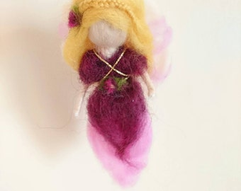 Needle felted Waldorf inspired Fairy