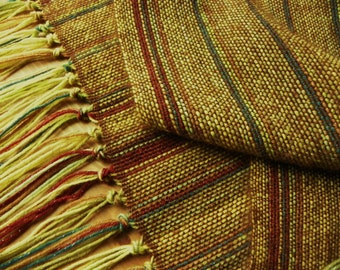 Hand Woven Wool Scarf Multi Colored