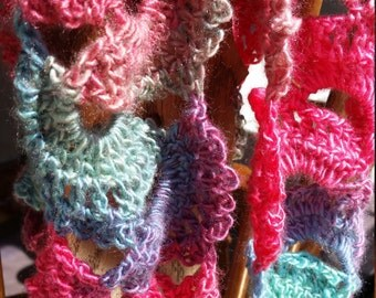 Lovely Multi-colored Crochet Scarf