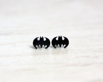 Studs Batman black stainless steel