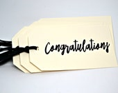 CONGRATULATIONS Tags Set of 8, Party Favor Tags, Wedding Tags, Engagement Party Tags