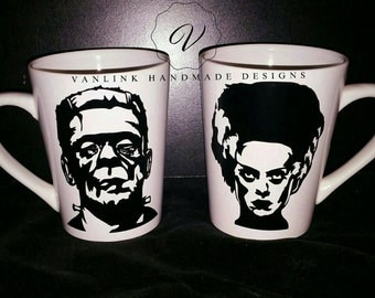 Mr. & Mrs. Frankensteins' monster coffee cup's