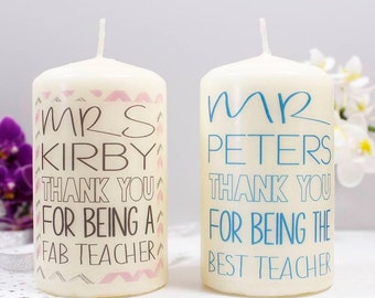 Thank You Candle For Teachers - Teaching Assistant Gift - Teacher Gift - Teacher Thank You Gift - Thank You Candle