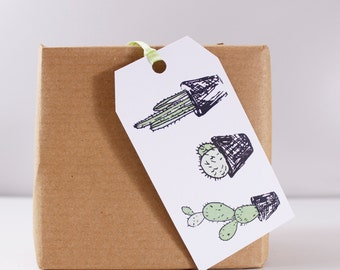 Cacti Gift Tag - House Plant Gift Tag - Cactus Gift Tag - Cacti Gift Wrap - Fun Gift Tag - Cacti Lover Gift Wrap - Gift Wrapping Accessory