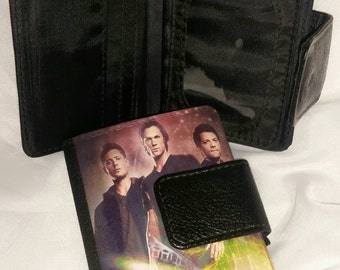 Supernatural tv show  mini Trifold leather wallet