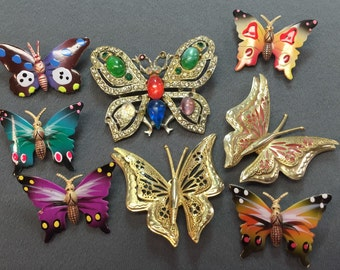 Big Bunch of Butterfly Brooches-  Free shipping