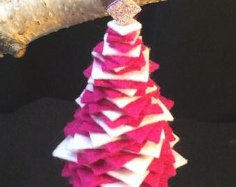 Felt & Felted Wool Christmas Tree Ornament