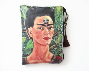 Frida Kahlo Waterproof wallet/Tampon case/Discreet Pouch